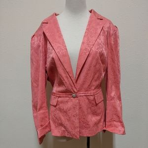 💎 22 Lane Bryant pink blazer floral
